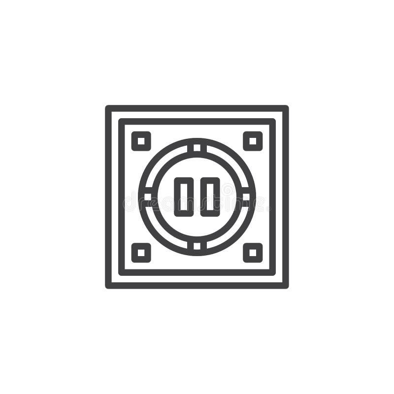 Japońska dohyo konturu ikona ilustracja wektor