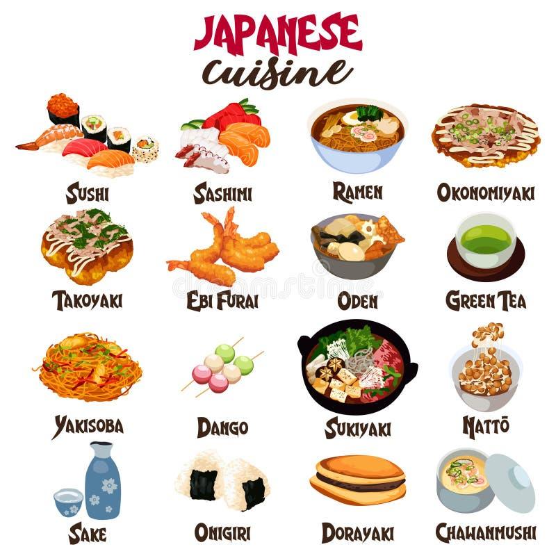 Japońska Karmowa kuchnia royalty ilustracja