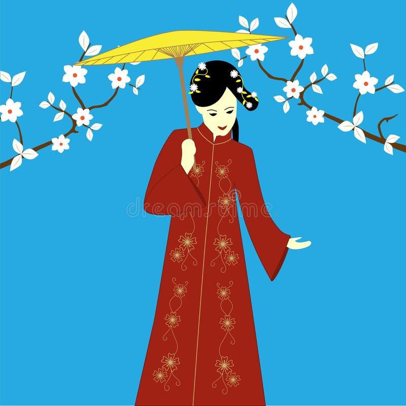 Japońska kobieta royalty ilustracja