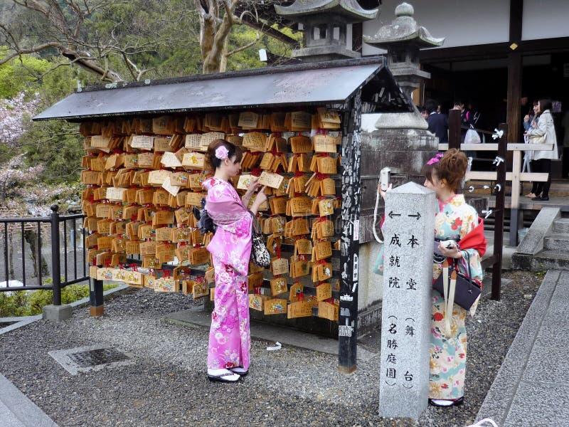 Japońska kobieta w obywatel sukni obraz stock