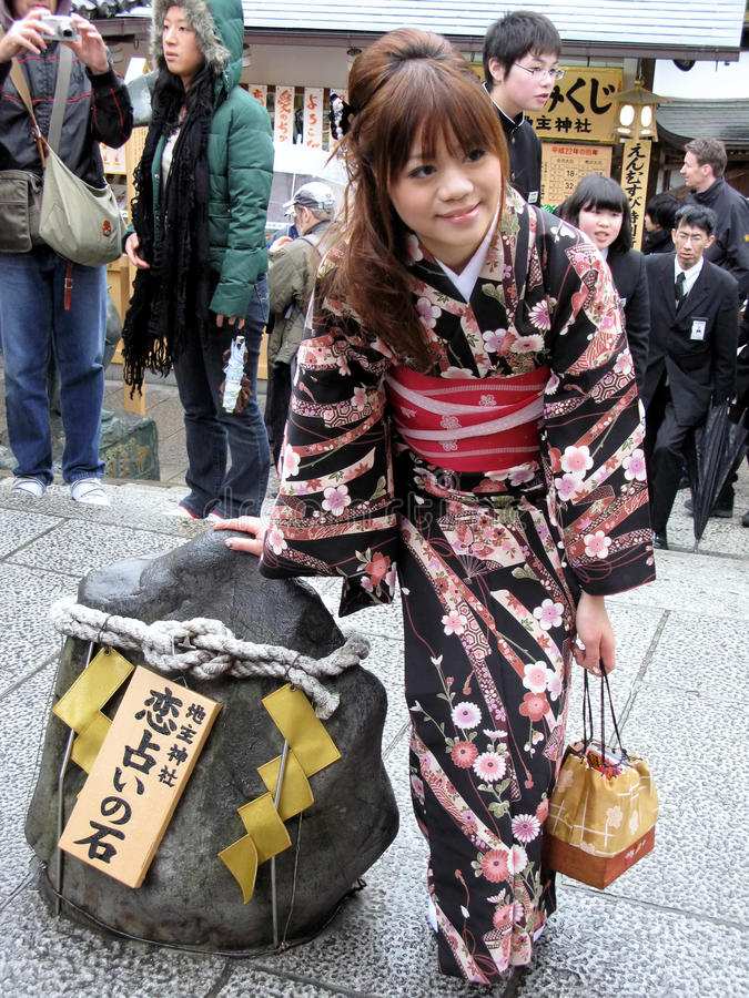 Japońska kobieta w obywatel sukni fotografia stock