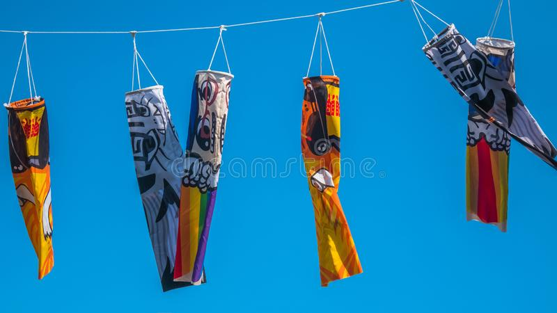 Japońska koinobori flaga, Koi ryby flaga obrazy royalty free