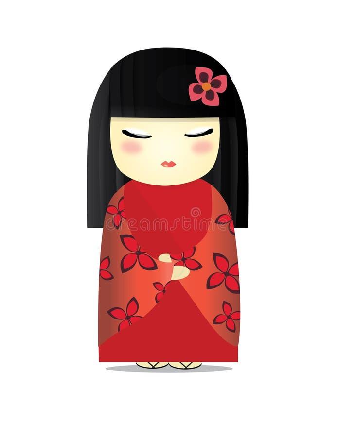 Japońska lala royalty ilustracja