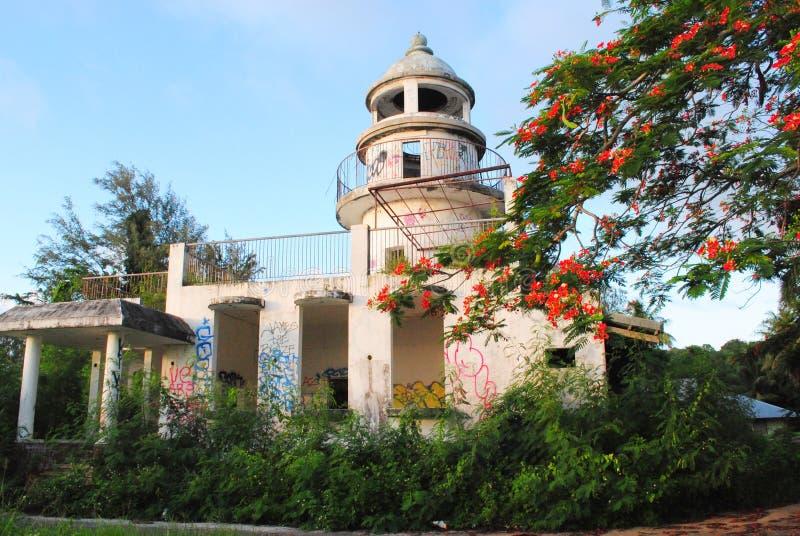 Japońska latarnia morska, Saipan obrazy royalty free