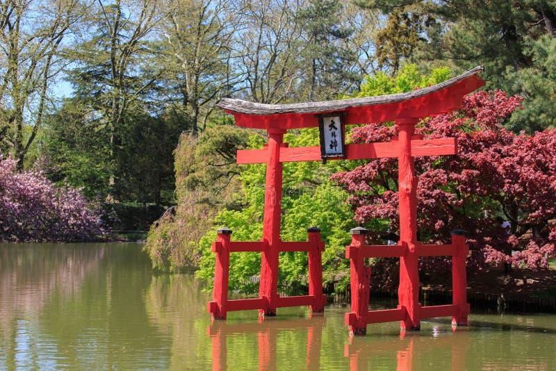 Japońska pagoda przy Brooklyn ogródem botanicznym obrazy stock