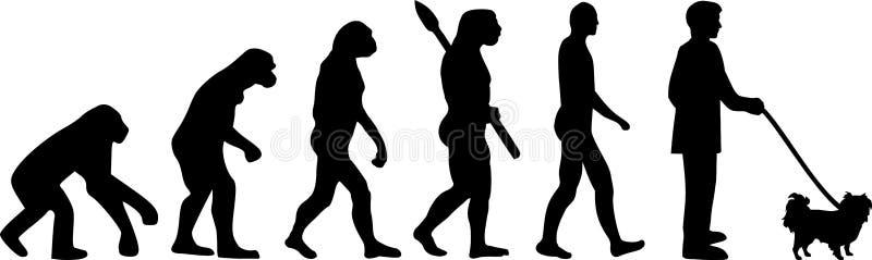 Japońska podbródek ewolucja ilustracja wektor