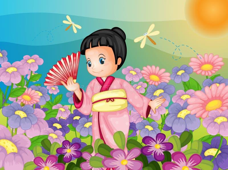Japońska scena royalty ilustracja