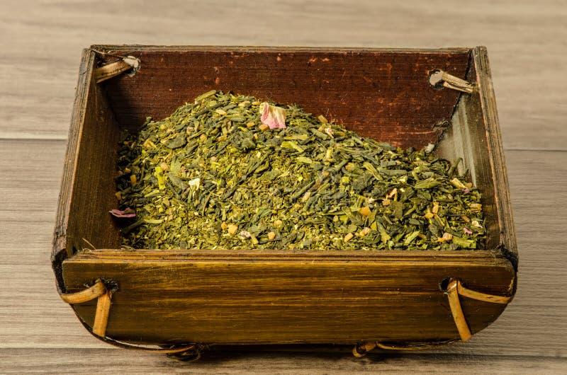 Sencha zielona herbata fotografia stock