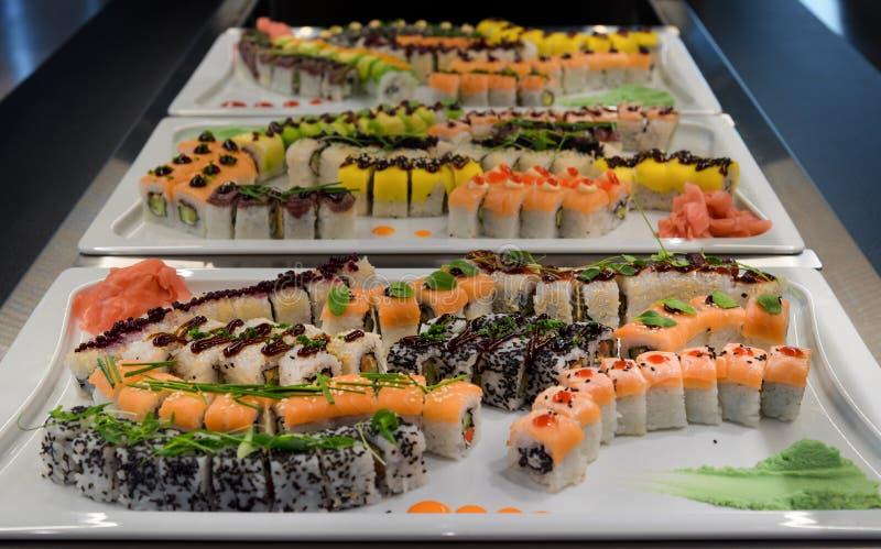 Japońska suszi restauracja obraz stock