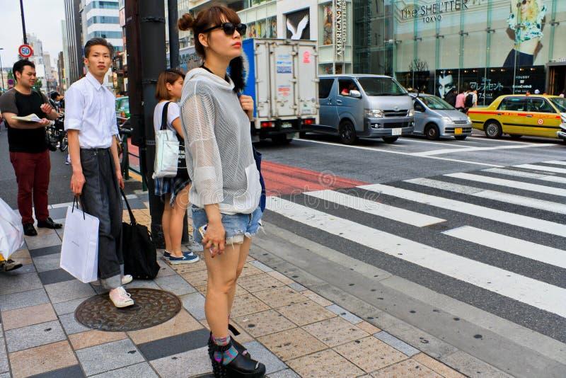 Japońska Uliczna moda w Tokio zdjęcie stock