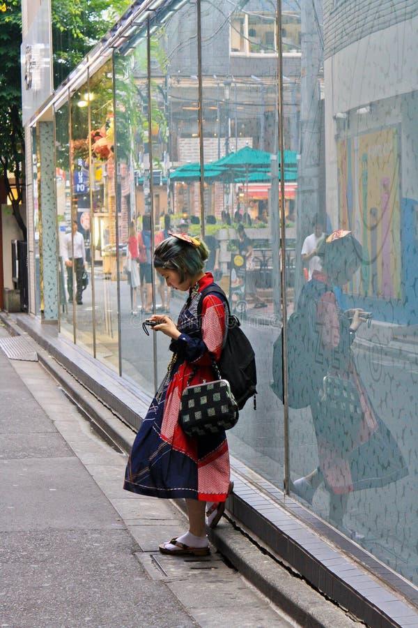 Japońska Uliczna moda w Tokio zdjęcia stock