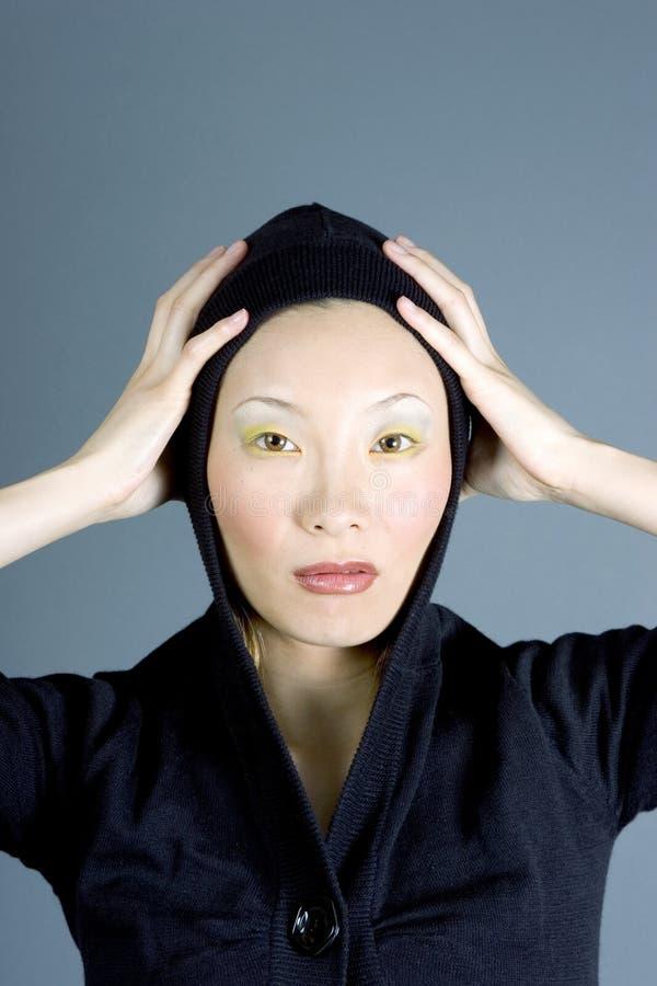 japońska warkliwa wam kobieta obraz royalty free