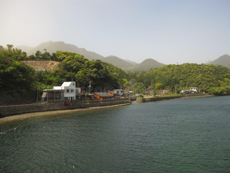 Japońska wsi rzeka obraz stock