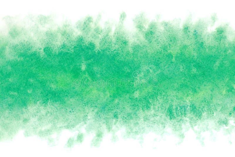 Japoński świeży zielony atrament wodnej fala abstrakt lub rocznik akwareli farby tło ilustracja wektor