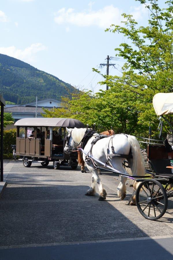 Japoński atrakci turystycznej ` Yufuin ` zdjęcia royalty free