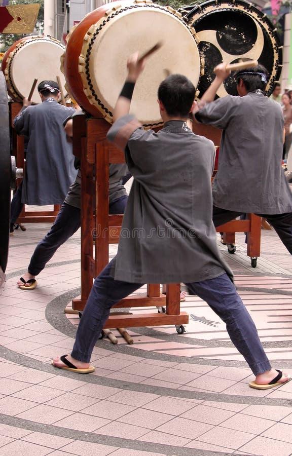 japoński bębnów show obrazy stock
