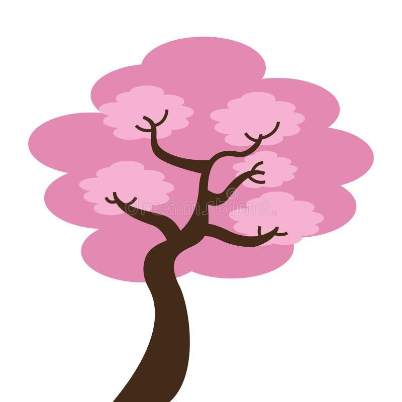 japoński drzewo odizolowywający ikona projekt ilustracja wektor