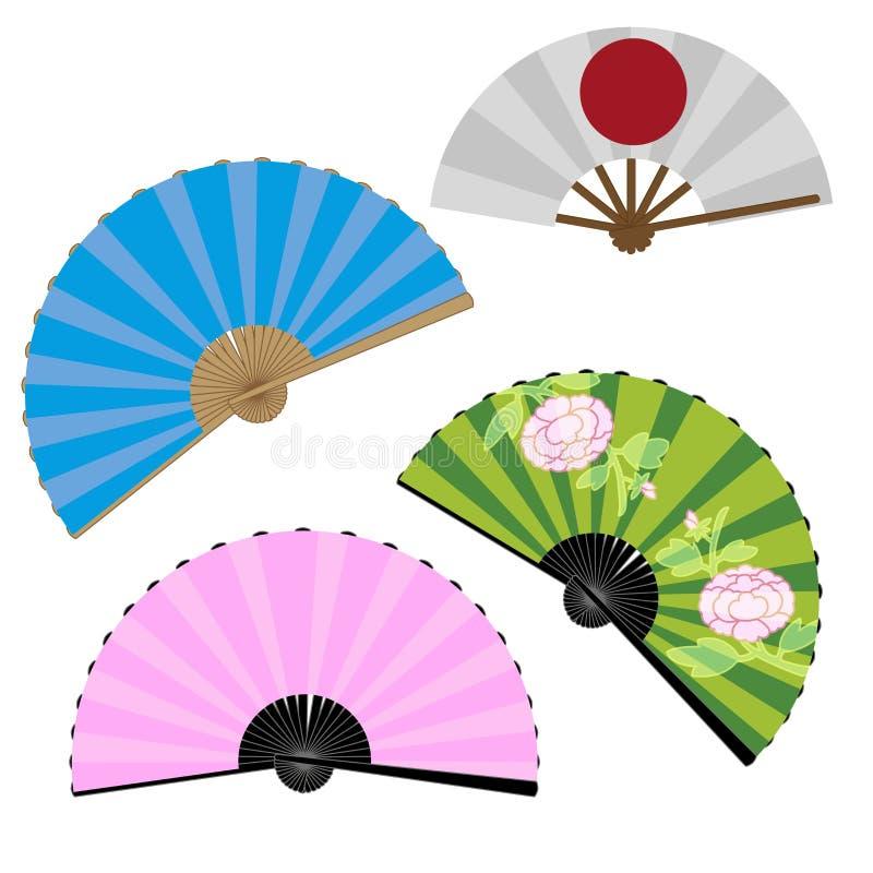 japoński fanów royalty ilustracja