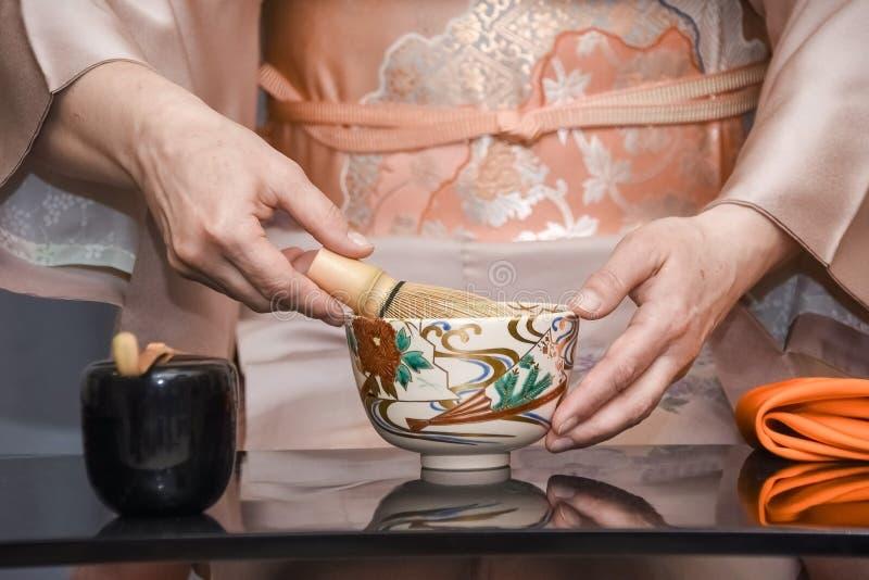 Japoński Herbaciany przyjęcie, Krajowa ceremonia fotografia stock