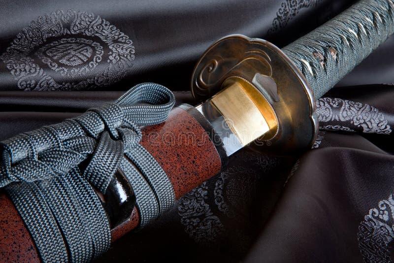 japoński jedwabniczy kordzik zdjęcie stock
