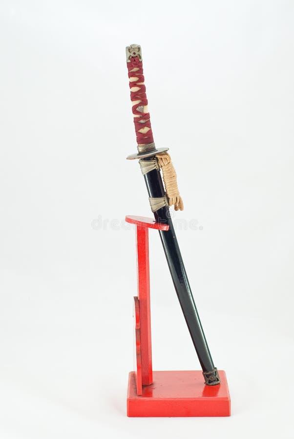 japoński katana samurajów kordzik zdjęcie stock