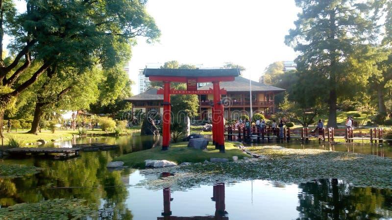 Japoński kultura ogród harmonia, Pełno zdjęcie stock