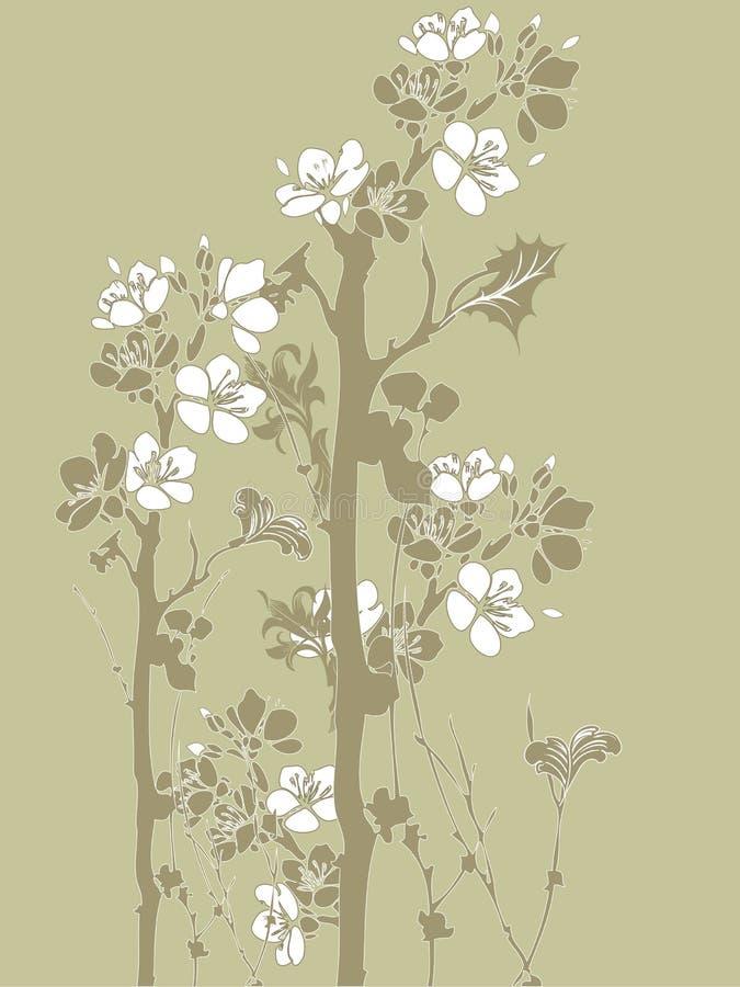 japoński kwiaty ilustracji