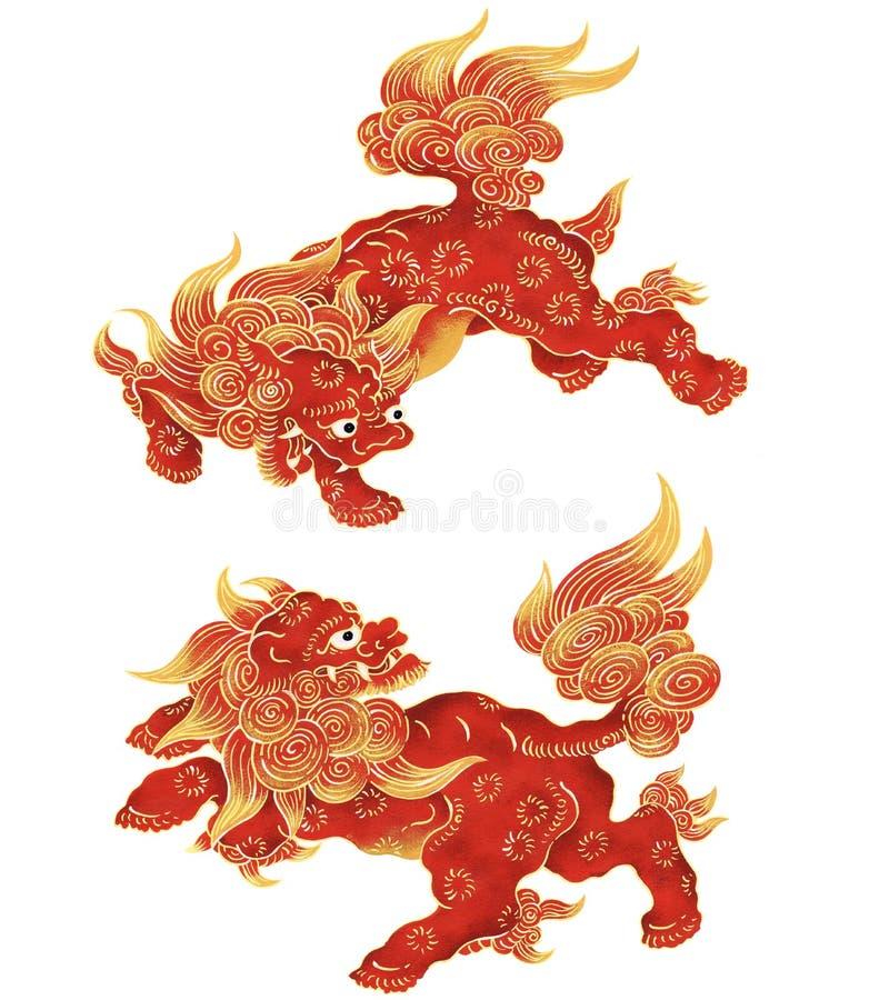 japoński lew ilustracji