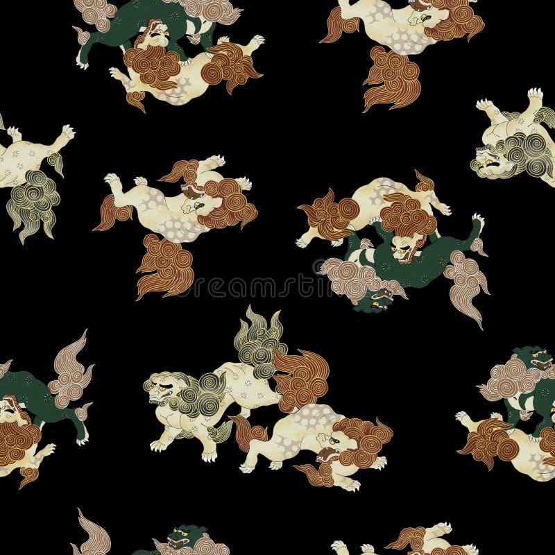 japoński lew royalty ilustracja