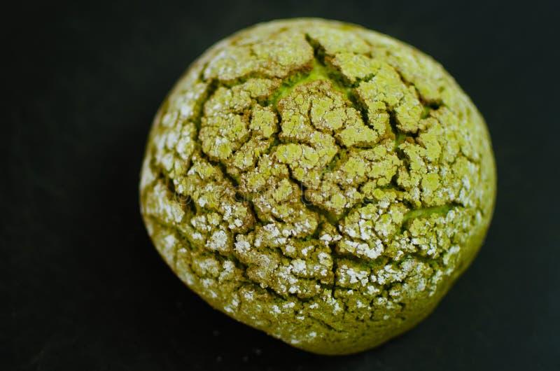 Japoński matcha melonu chleb fotografia stock