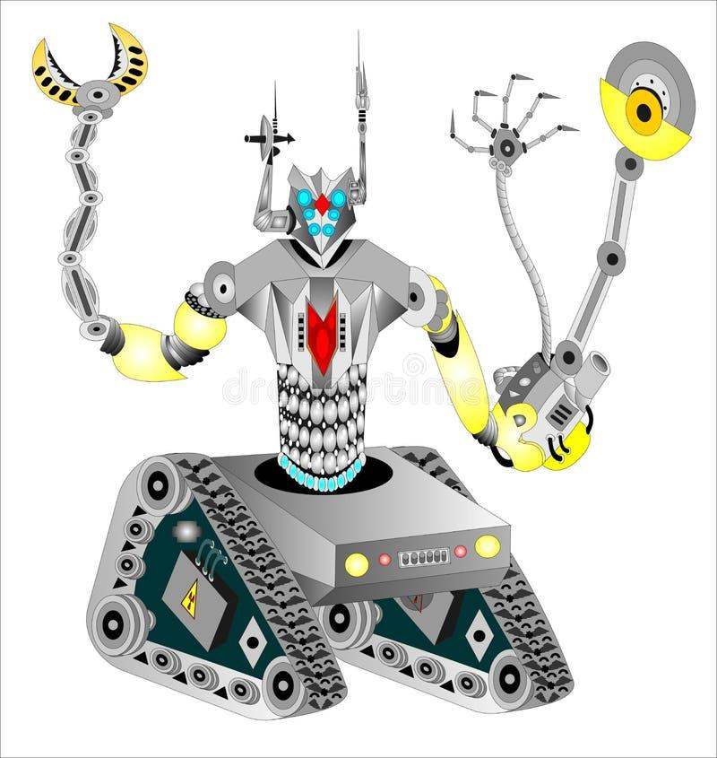 Japoński militarny robot royalty ilustracja