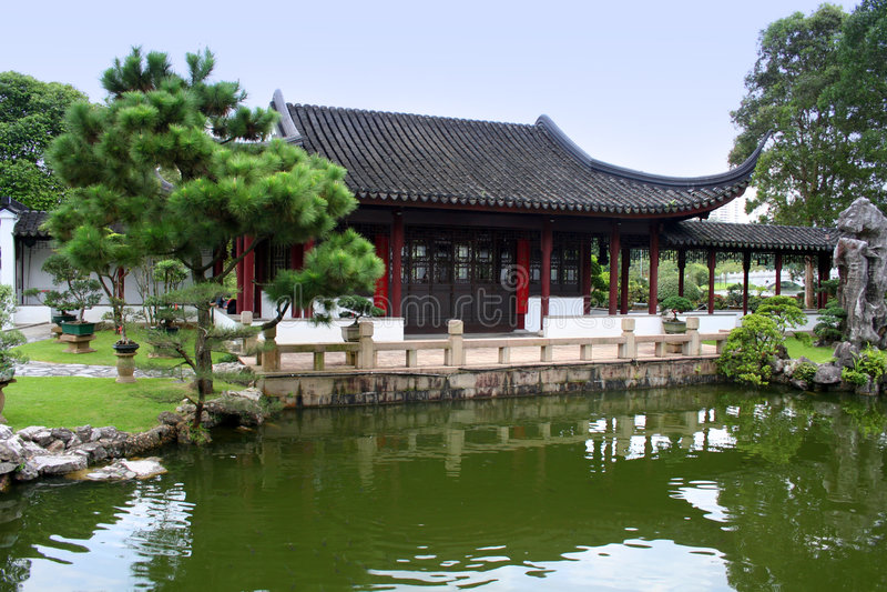 japoński ogród w domu obrazy royalty free