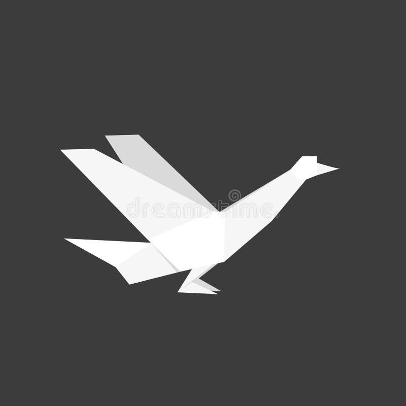 Japoński origami papieru gołąbki ptak ilustracji