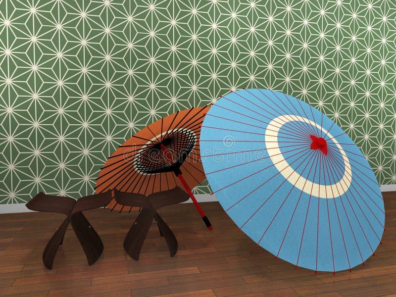 japoński parasol ilustracja wektor