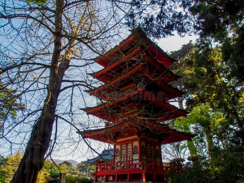 japoński pawilon fotografia stock