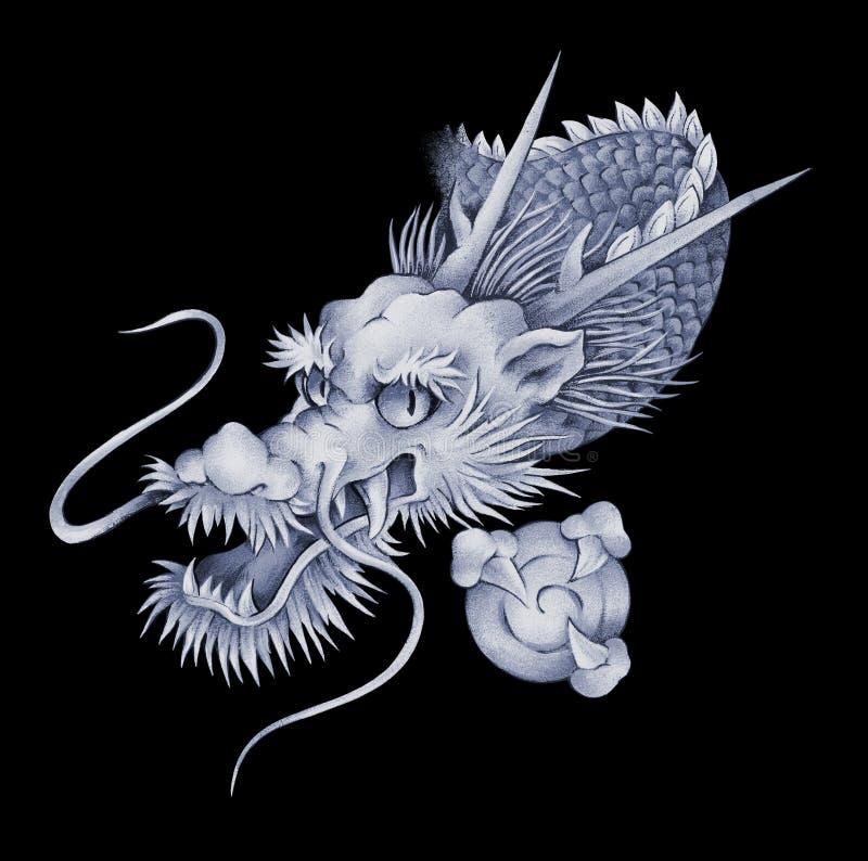 Japoński smok ilustracji