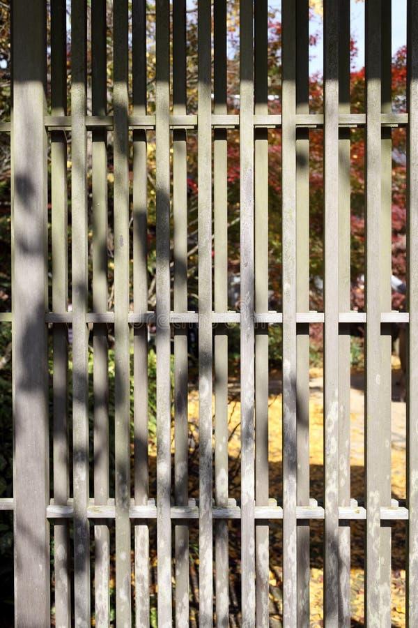Japoński stary kratownicy drzwi obraz stock