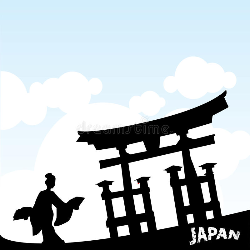japoński styl ilustracja wektor