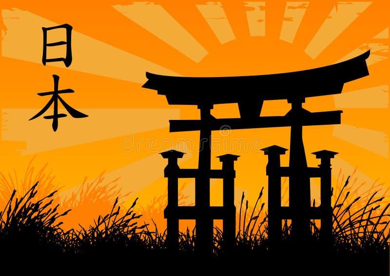 japoński styl royalty ilustracja
