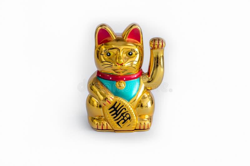 Japoński Szczęsliwy kot (Maneki Neko) fotografia stock
