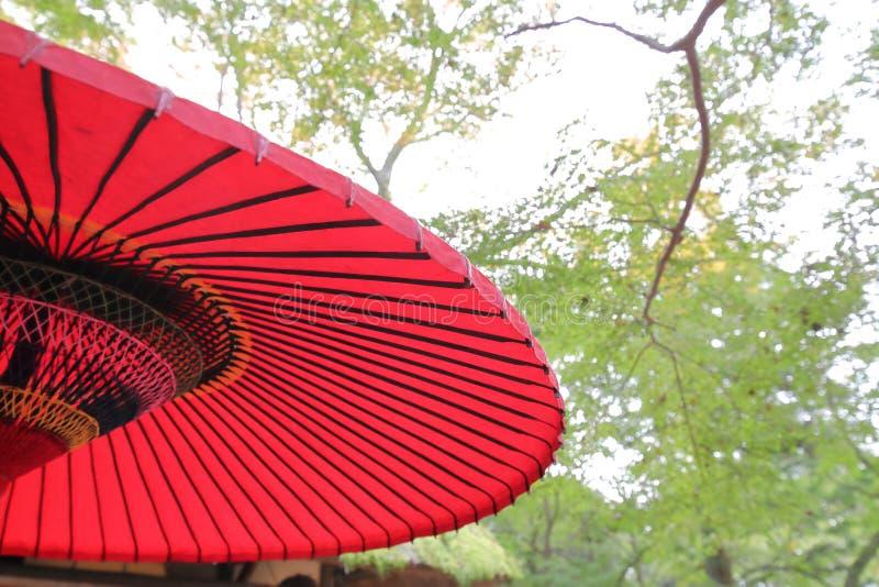 Japoński tradycyjny parasol czerwony parasol obraz royalty free