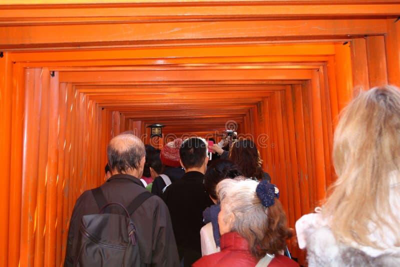 Japoński tunel robić drewna obraz royalty free