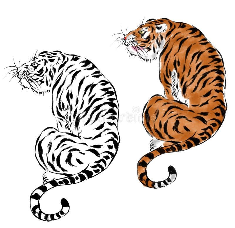 japoński tygrys ilustracji