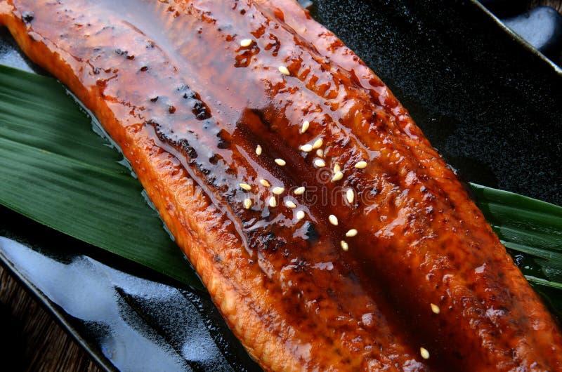 Japoński węgorz piec na grillu lub Unagi Ibaraki fotografia royalty free