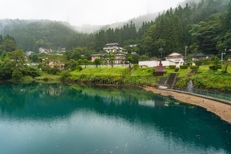 Japoński wieś krajobraz miasteczko obrazy royalty free