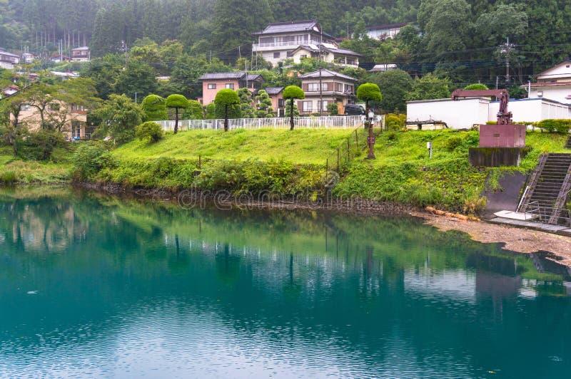 Japoński wieś krajobraz miasteczko zdjęcia stock