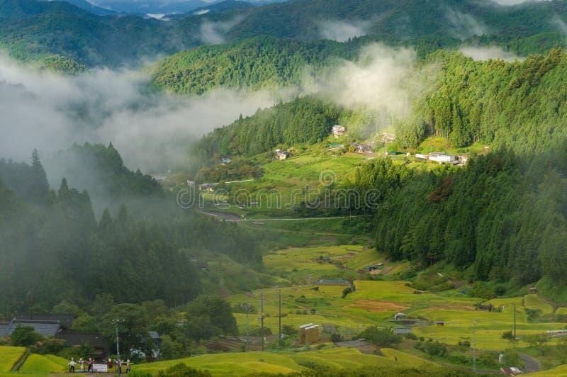 Japoński wysokiej góry wsi gospodarstwo rolne obrazy stock