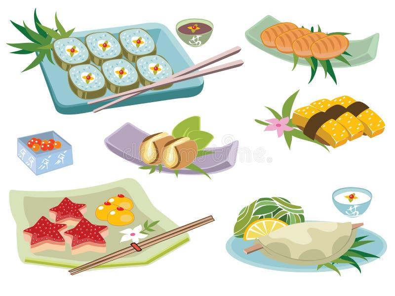 japońskie jedzenie ilustracji
