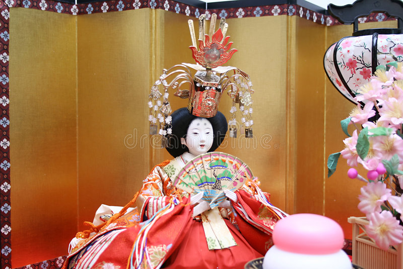 japońskie lalki. zdjęcia stock