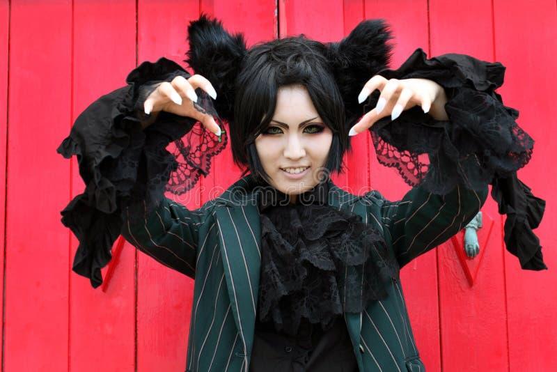 Japońskiego anime charakteru cosplay dziewczyna obrazy royalty free